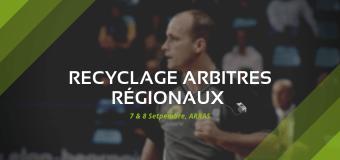 Stage de recyclage des arbitres régionaux à Arras.