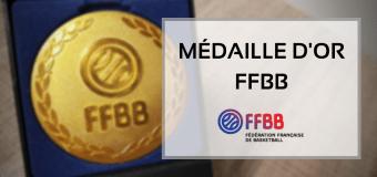 Marie José FUENTES (NBBC et CD60), médaillée d'OR de la FFBB.