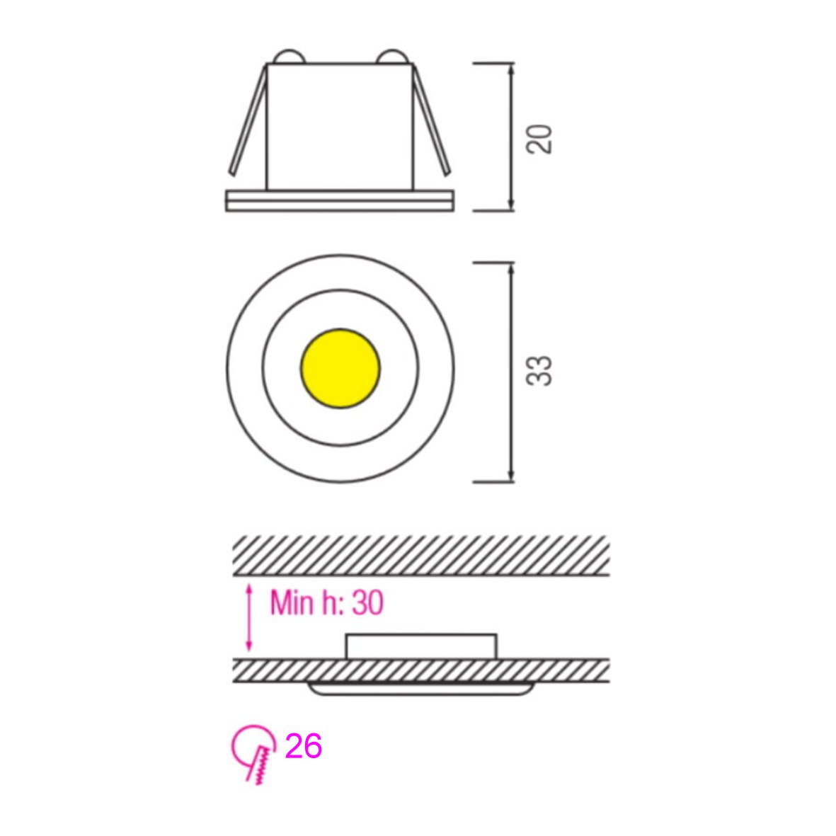 Mini Led Spot Aluminium Einbauleuchte Trafo 230v Einbaustrahler Einbau Strahler