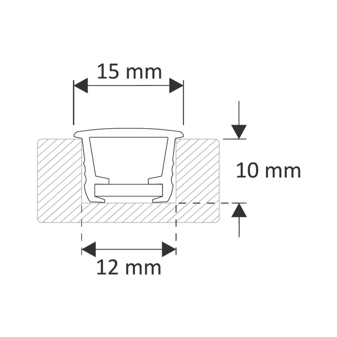 9 95 M Einbau Pvc Profil Leiste