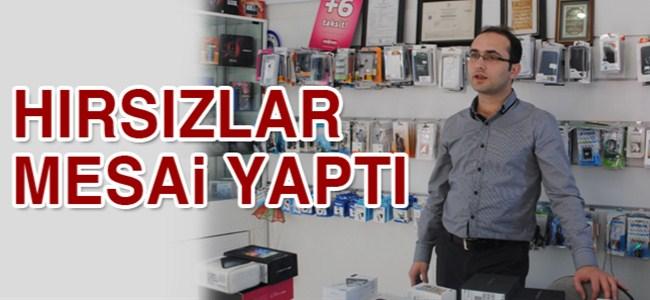 Hırsızlar Fellahoğlu Cep Shop'da mesai yaptı