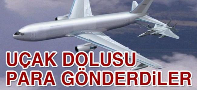 İngiltere uçakla 1 milyon Euro gönderdi