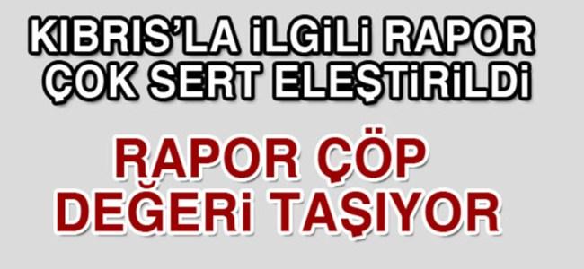 Kıbrıs'la ilgili rapor çok sert eleştirildi