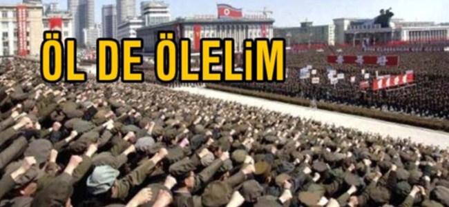 Kuzey Kore'de savaşa destek mitingi