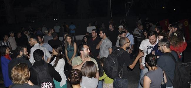 Taksim'e Kıbrıs'tan destek...