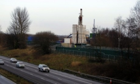 Anti-fracking protest at Barton Moss