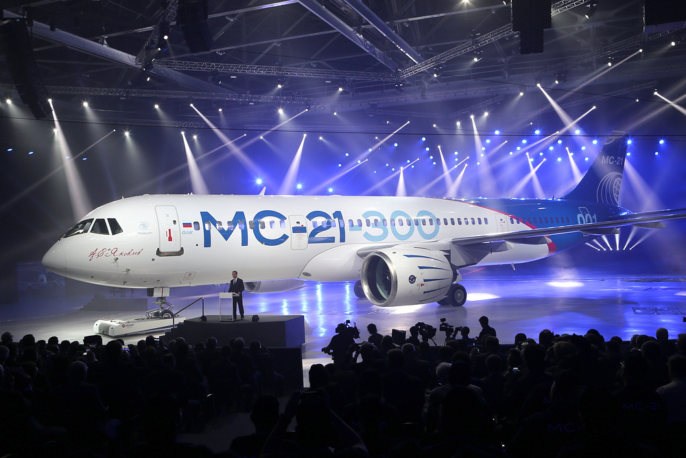 Rus Yolcu Ua Irkut MC21 Fabrikadan kt  Havayolu 101