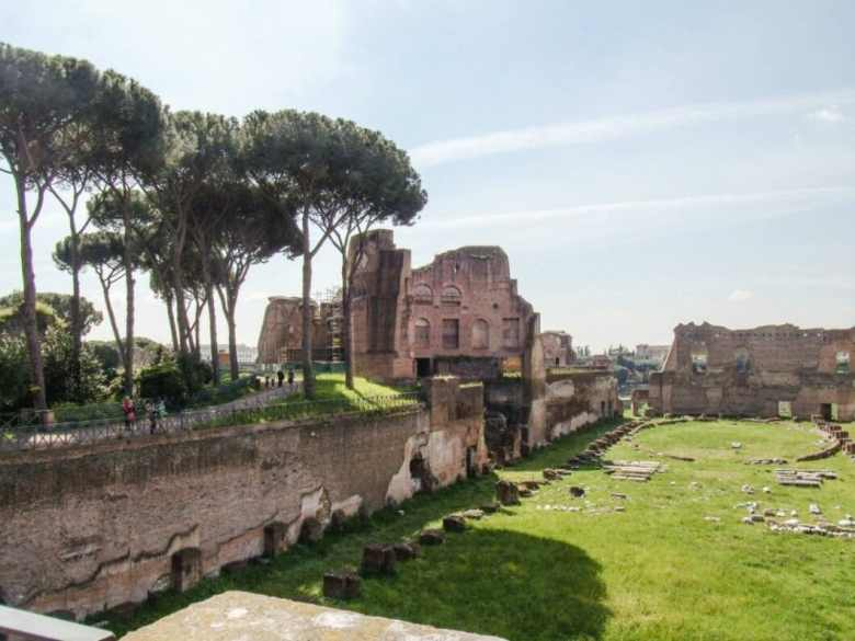"""A private chariot racing course (or """"circus"""") inside the Roman Forum."""