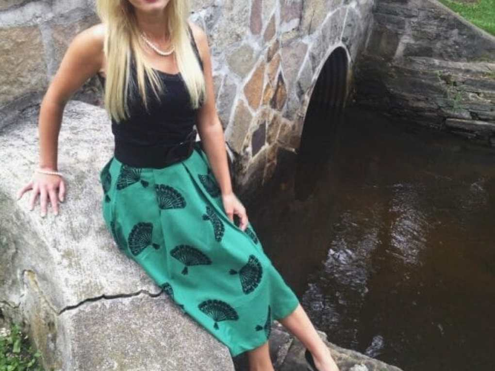 A Fan-tastically whimsical skirt