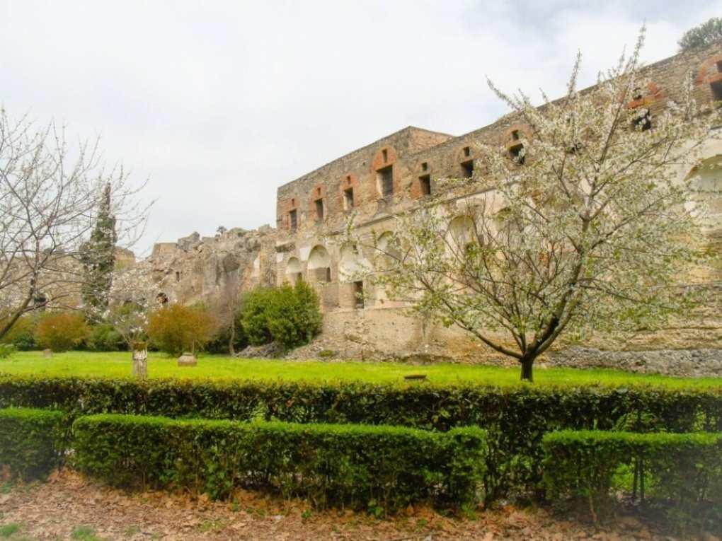 The entrance to Pompeii.