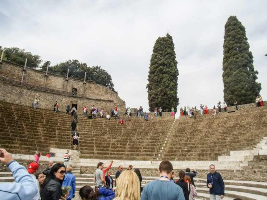 The inside of the amphitheater.