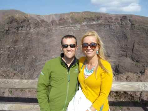 Our bus driver kindly took this photo of my husband and me at Mt Vesuvius, so we could have at least one photo of both of us!