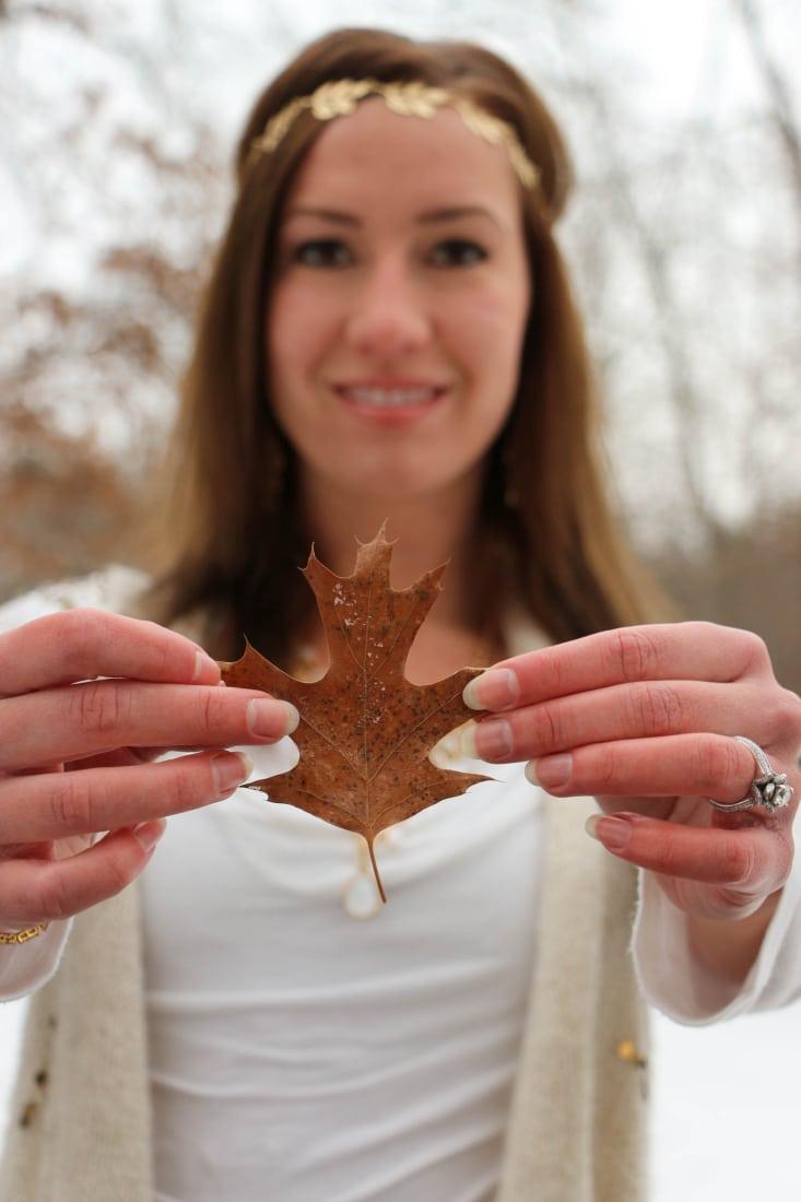 A leaf to match my leaf headband. :)