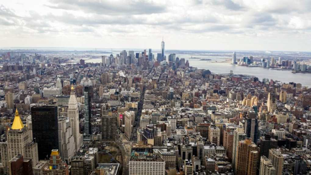 The view of New York City from The Empire State Building.