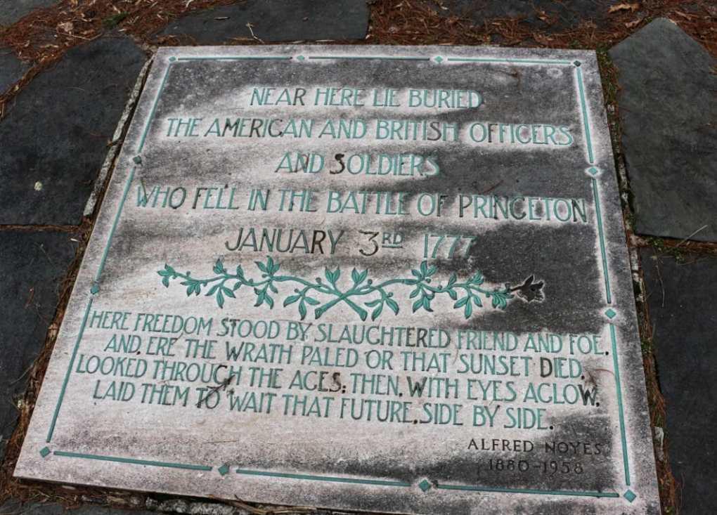 Princeton Battlefield Gravesite