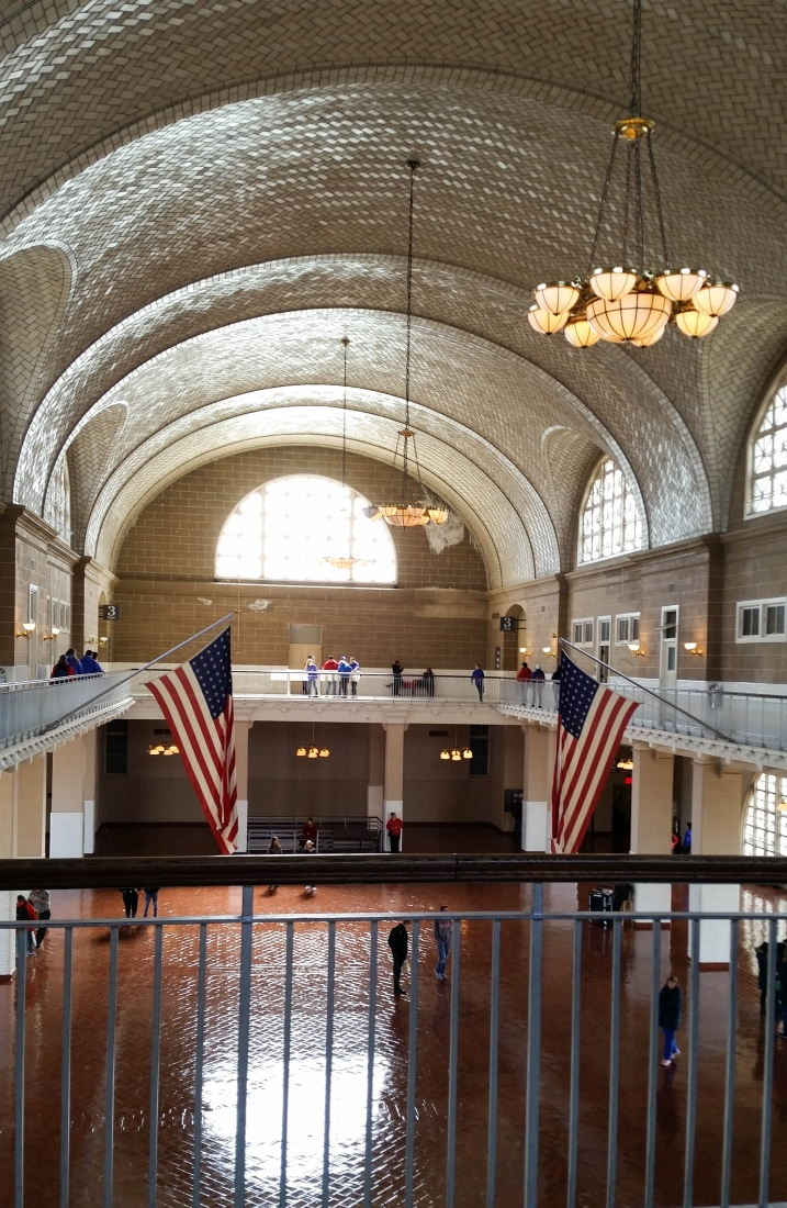 The Registry Room a.k.a The Great Hall at Ellis Island.