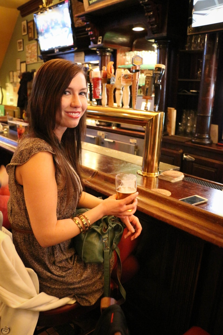 """Having a drink at the bar that inspired MacLaren's Pub on """"How I Met Your Mother."""""""