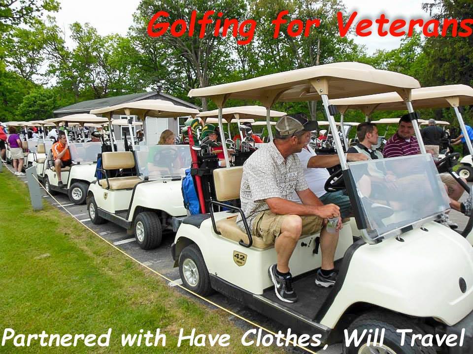 Just before the start of the 2013 Golfing for Veterans.