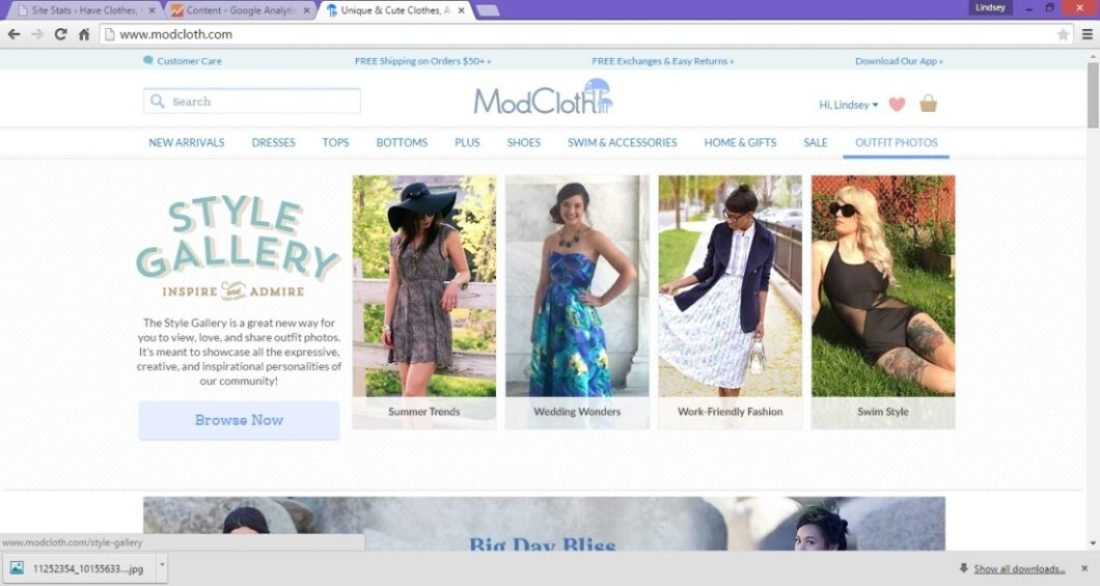 Holy cow! I'm in a ModCloth ad!