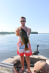 My husband's big catch!