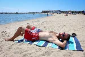 Zac's Budweiser swimming trunks