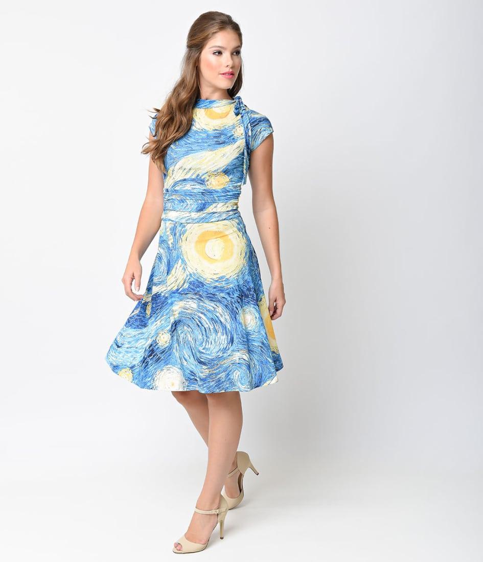 Starry Night dress: Unique Vintage