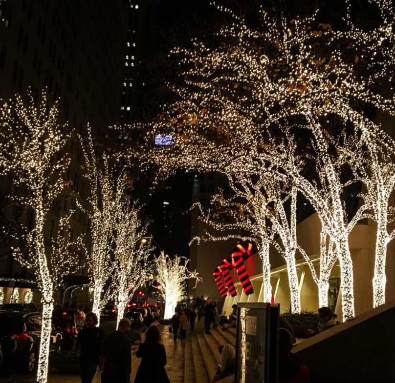 This was just off 5th Ave. How pretty are these lights?