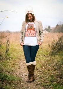 save the trees ewok shirt