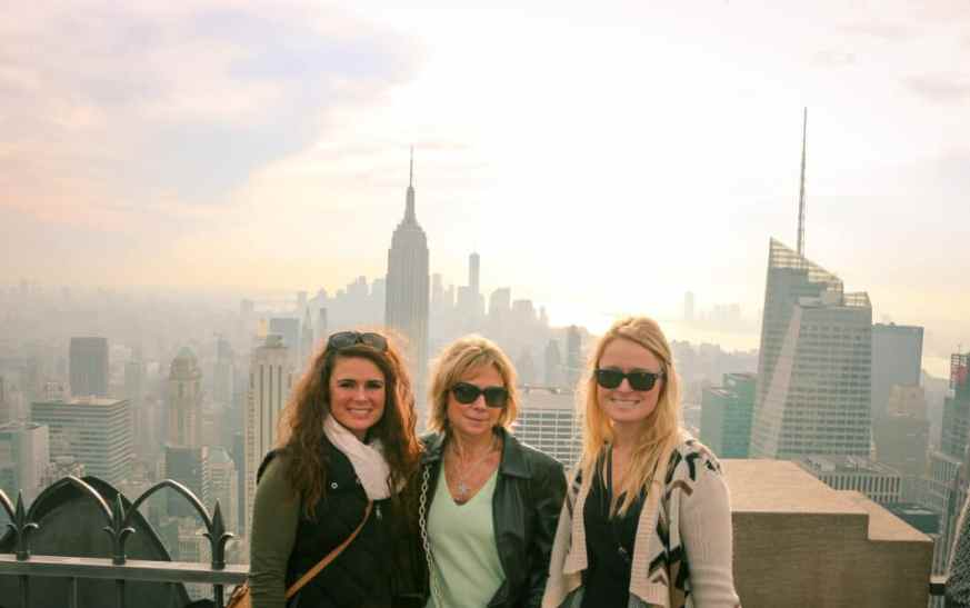 My friends at the Top of the Rock