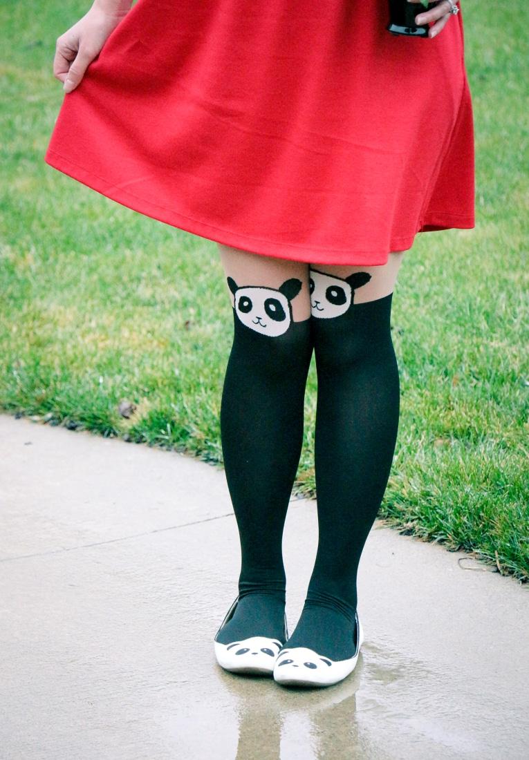 Panda tights