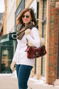 Coach fur purse