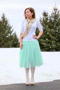 tulle skirt as princess outfit