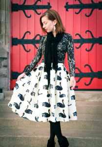 Shein swan skirt