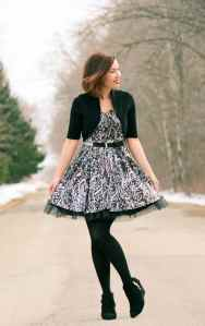 tulle dress with animal print for a winter birthday outfit