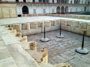 Agra Fort pool area