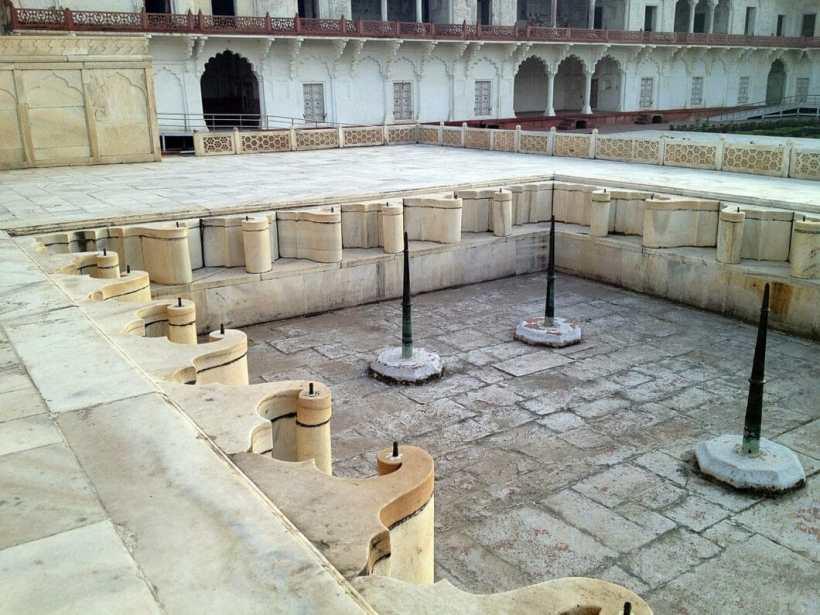 Agra Fort pool area