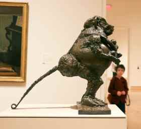 "Pablo Picasso, ""Baboon & Young."" Who knew Picasso did sculptures? This is made from entirely ""found"" objects."