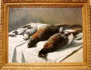 "Claude Monet, ""Still Life with Pheasants and Plovers."""