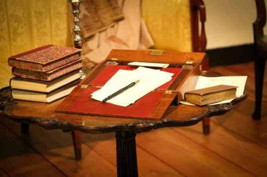 The writing table from the Emma scene.