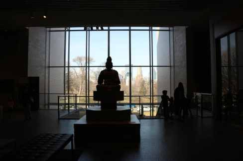 I liked the silhouette of the Buddha statue against the skyline.