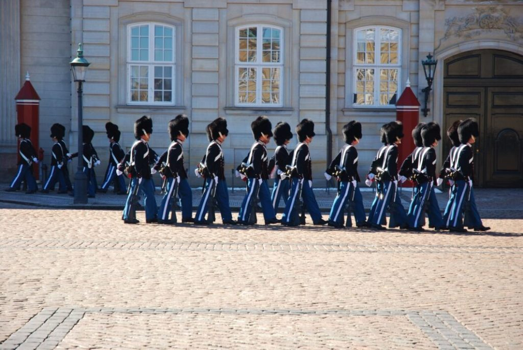 Changing of the guard at Amalienborg