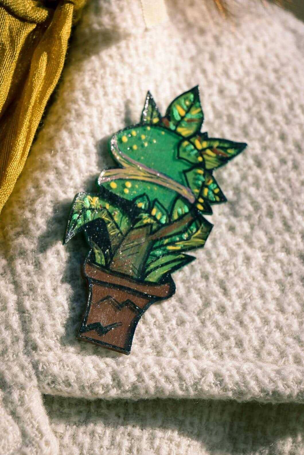 Handmade Venus Fly Trap Pin