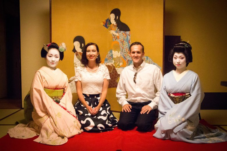 Dinner with geishas