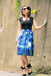Makemechic The Starry Night midi skirt