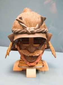 Helmet in Shape of Man's Head - Edo Period 17th century