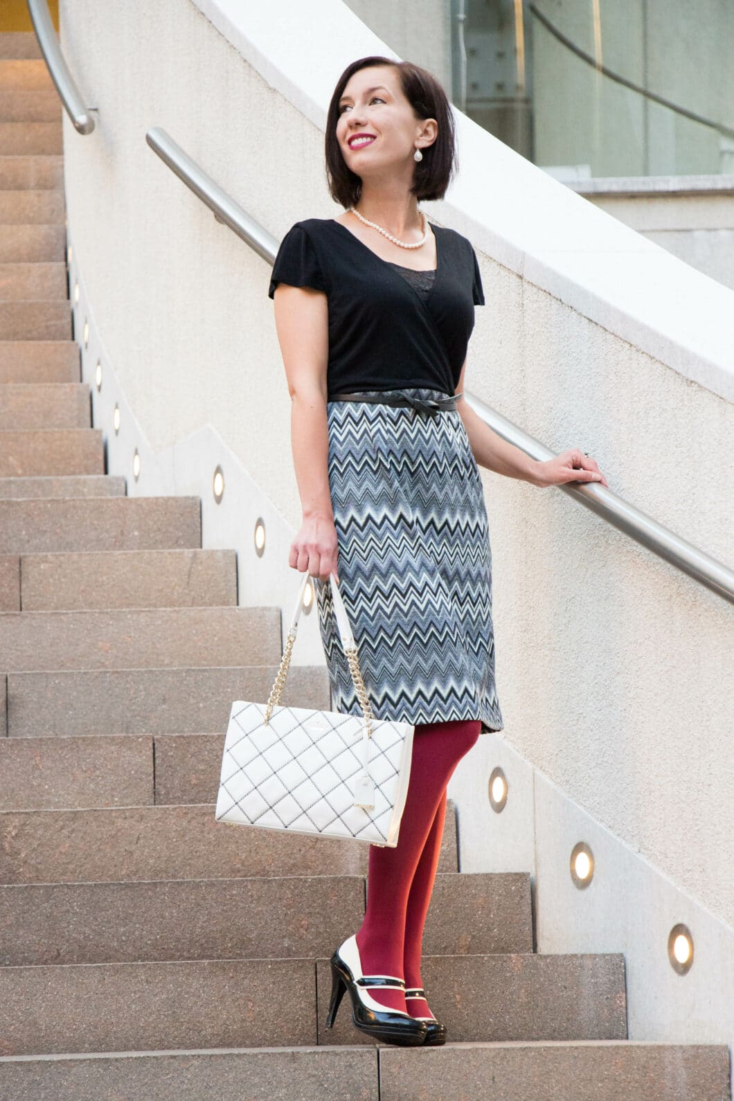 MODCLOTH DRESS - KATE SPADE BAG