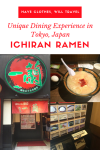 a unique ramen experience in tokyo, japan Ichiran Ramen