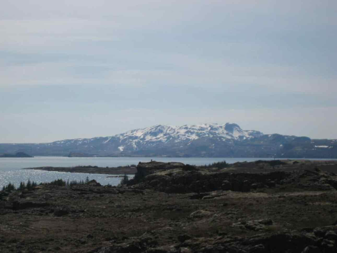 Mountains across the lake at Thingvellir
