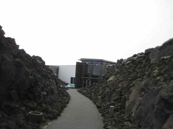The entrance to the Blue Lagoon is very lunar-looking.