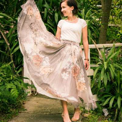 """""""Back to Nature"""" Outfit Featuring a Stylewe Skirt"""